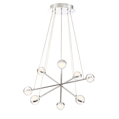 Eurofase Lazio Collection, 8-Light LED Chrome Chandelier