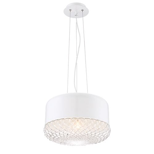 Eurofase Corson Collection, 1-Light Large White Pendant