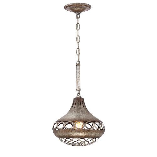 Collection Mosto, luminaire suspendu chrome à 1ampoule