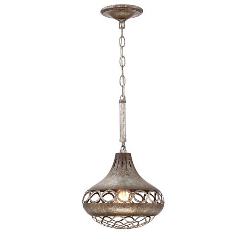 Eurofase Mosto Collection 1-Light Pendant Light Fixture in Chrome