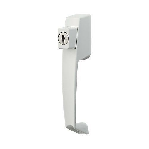 VP Push Button Handle Set with Key lock (White)