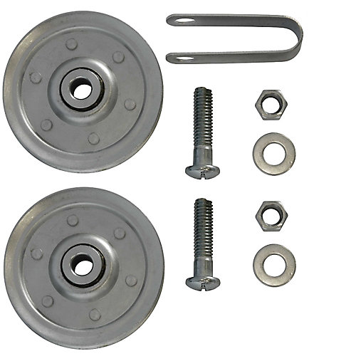 3 inch Garage Door Pulleys with fork and bolts (2-Pack)