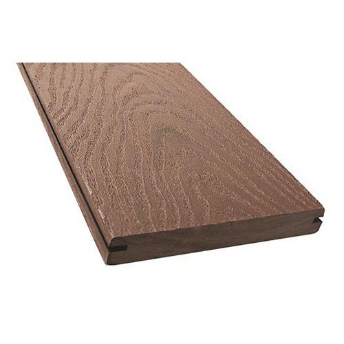 Veranda 12 Ft. -  Ultra Light Composite Capped Grooved Decking - Chestnut Brown