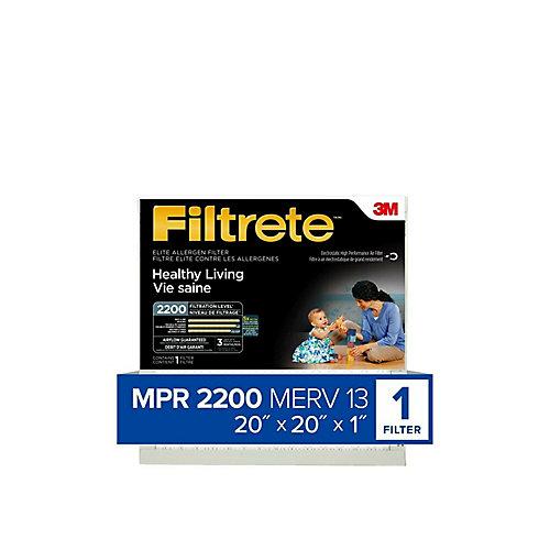 Healthy Living Elite Allergen Filter, MPR 2200, 20 inch x 20 inch x 1 inch