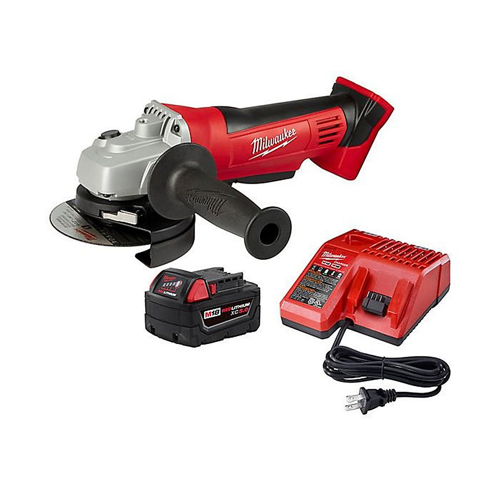 Milwaukee Tool M18 18V Li-Ion Cordless 4-1/2-inch Cut-Off Tool / Grinder w/ 5.0Ah Battery & Charger