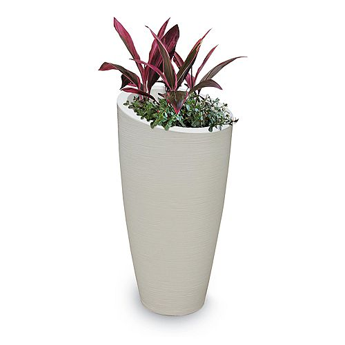 Modesto 32in Tall Planter - Ivory