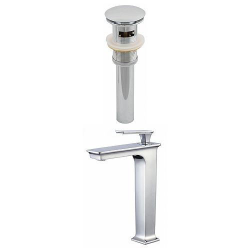 American Imaginations Deck Mount CUPC Approved Brass Faucet Set In Chrome Colour - Overflow Drain Incl.