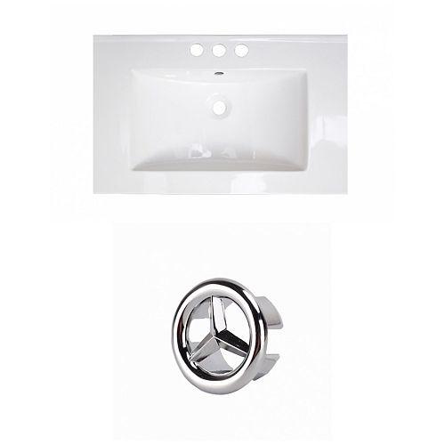 23.75- inch W 3H4- inch Ceramic Top Set In White Colour