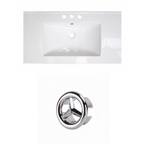 32- inch W 3H4- inch Ceramic Top Set In White Colour
