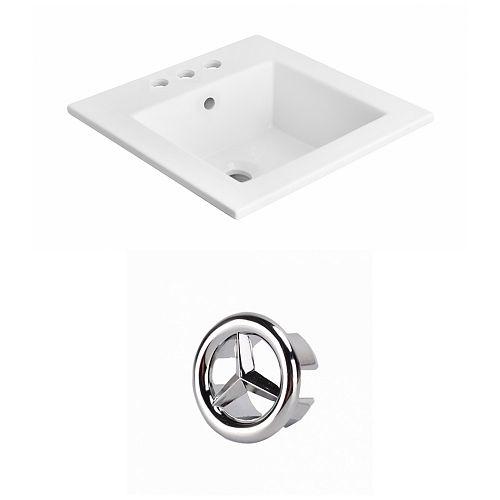 21- inch W 3H4- inch Ceramic Top Set In White Colour