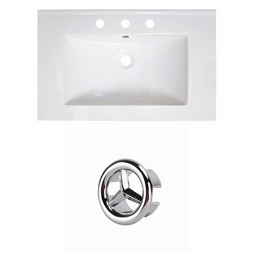 30- inch W 3H8- inch Ceramic Top Set In White Colour