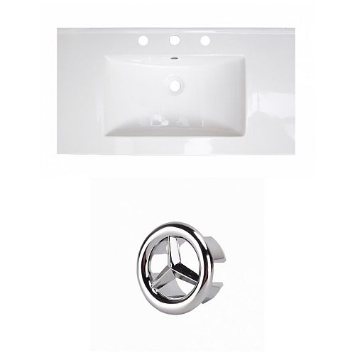 36.75- inch W 3H4- inch Ceramic Top Set In White Colour