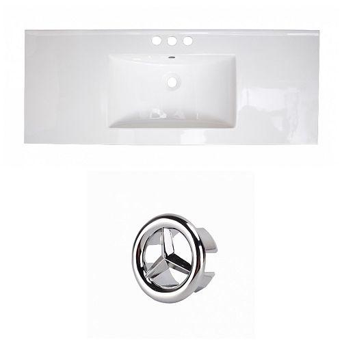 48.75- inch W 3H4- inch Ceramic Top Set In White Colour