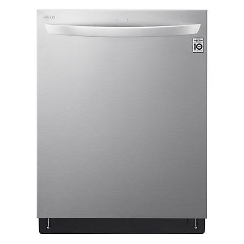 Lave-vaisselle Top-Control 24 po avec 3e panier et laveuse QuadWash en acier inoxydable - ENERGY STAR®