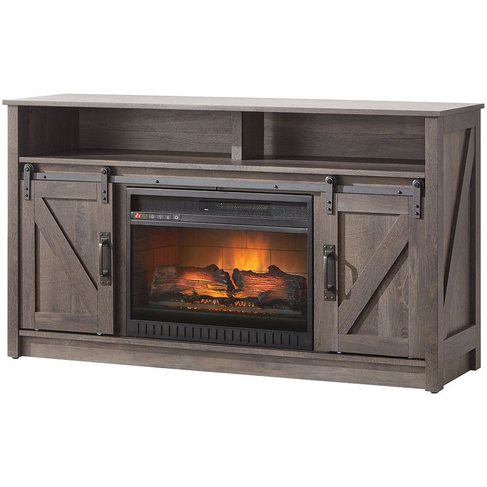 Home Decorators Collection 54 inch Barn Door Electric Fireplace