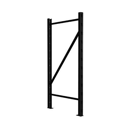 Élément de rayonnage vertical pour étagère de rangement en métal 1,5 po de largeur x 36 po de hauteur x 18 po de profondeur - Noir