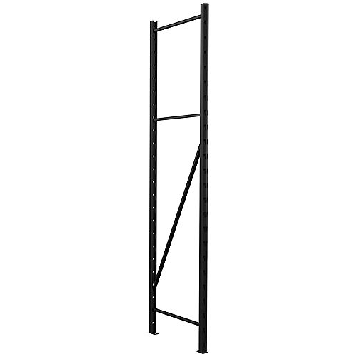1000 Series Customizable Shelving 1.5-inch W x 72-inch H x 18-inch D Steel Upright in Black