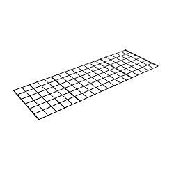 48-inch W x 0.5-inch H x 18-inch D Metal Storage Rack Wire Shelf in Black