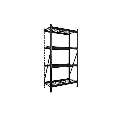 4-Shelf Metal Storage Rack Starter Kit