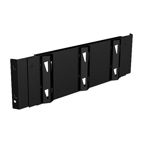 Plateau à crochets pour étagère de rangement en métal 18 po de largeur x 5,5 po de hauteur x 1 po de profondeur - Noir