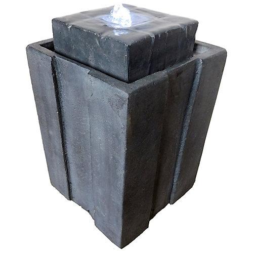 Fontaine Montgomery de 40 cm avec pompe et lumières