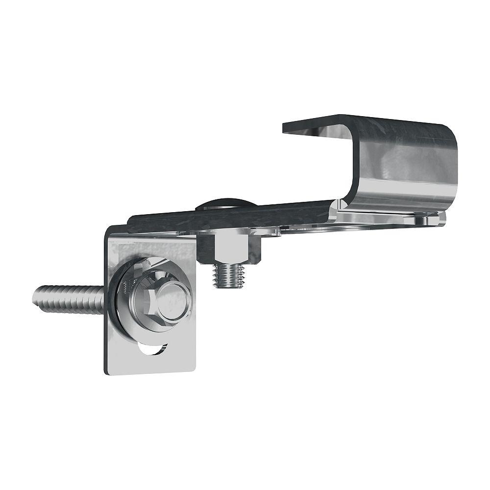 Husky 1000 Series Customizable Shelving 0.7-inch W x 1.5-inch H x 2.6-inch D Steel Wall Bracket 2-Pack
