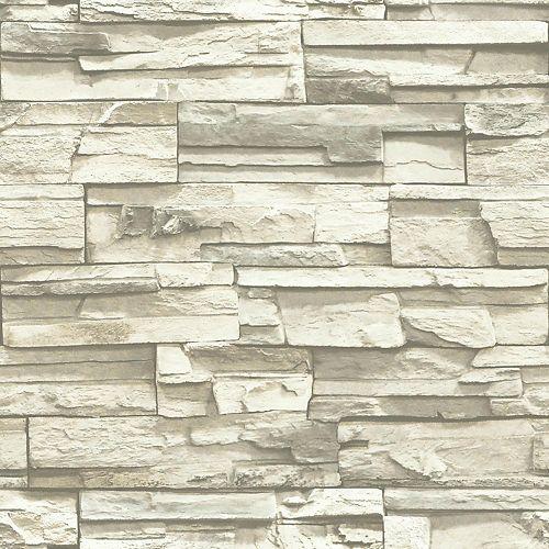 Flat Stone Peel and Stick Wallpaper