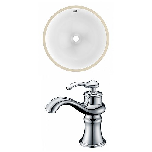 American Imaginations 15.25-in W Undermount Sink Set