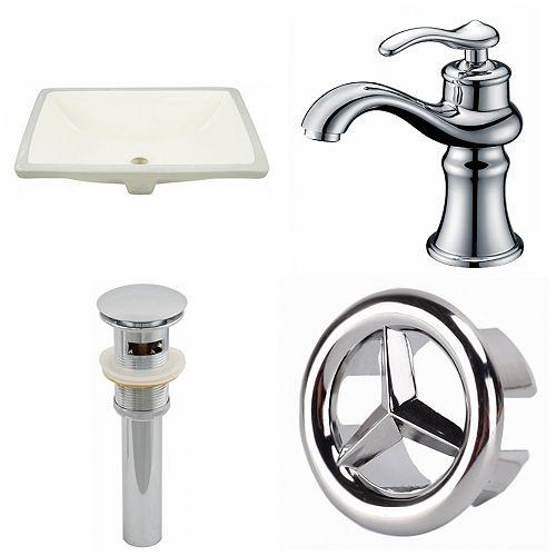 18.25-in W Undermount Sink Set - AI-25976