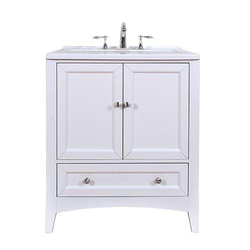 30 inch White Laundry Utility Sink