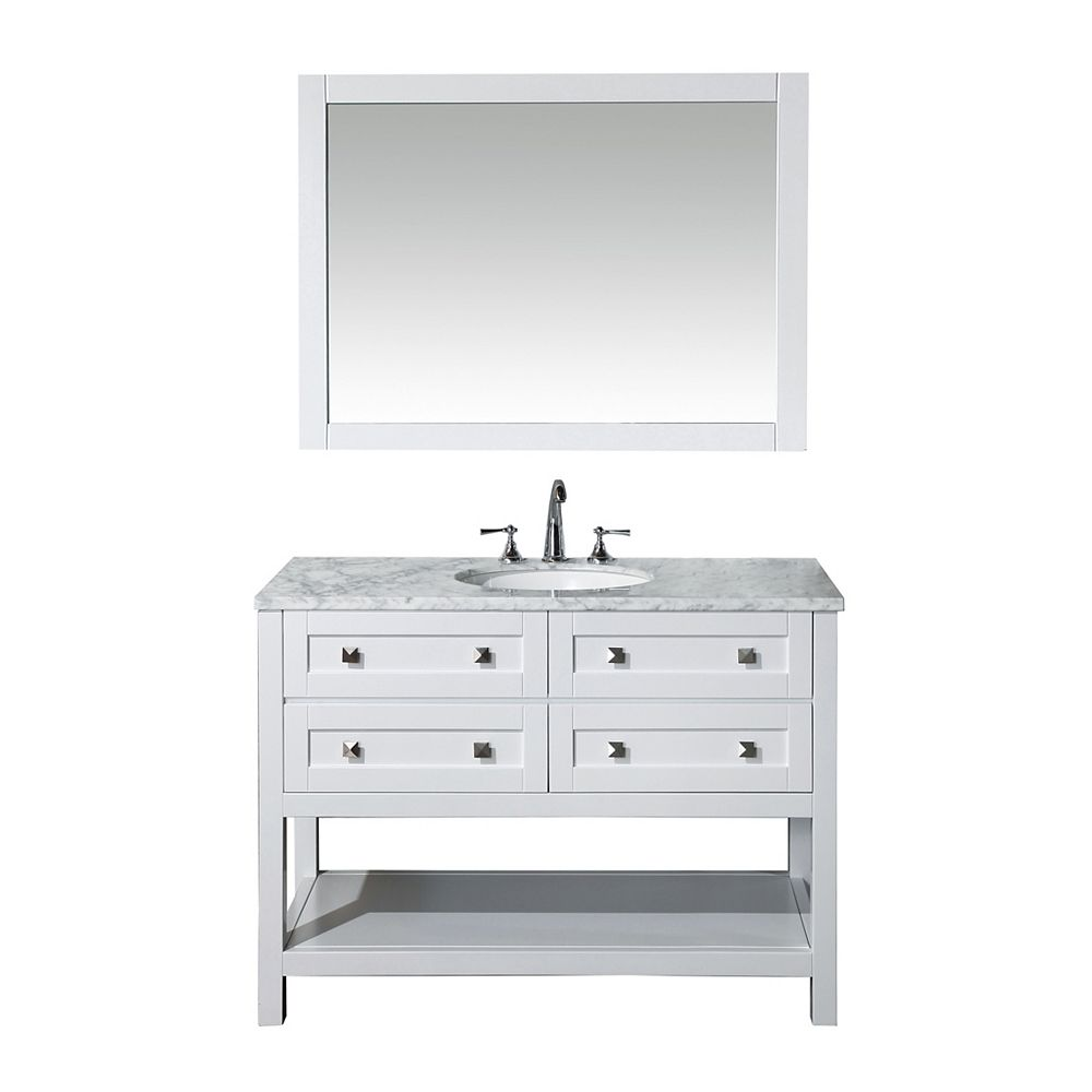 Stufurhome Marla 48 inch Single Sink Bathroom Vanity with ...