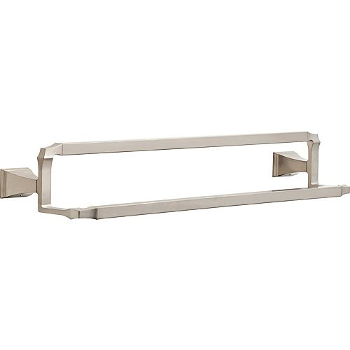 Dryden Double Towel Bar, Stainless Steel