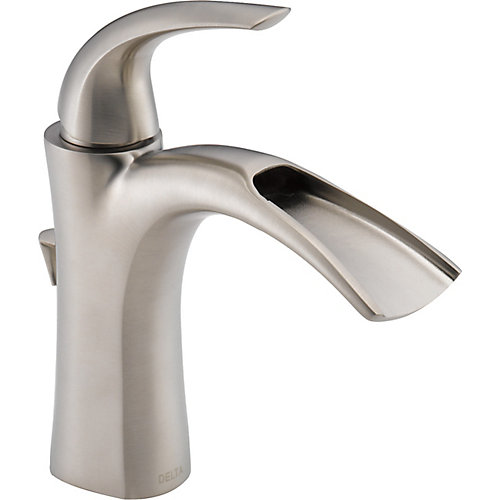Nyla Single Handle Lavatory Faucet, Stainless Steel