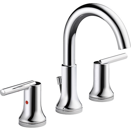 Trinsic Widespread Lavatory Faucet with Metal Pop-Up, Chrome