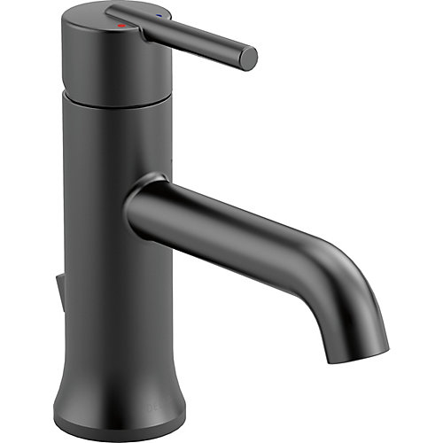 Trinsic Single Handle Lavatory Faucet - Less pop up, Matte Black