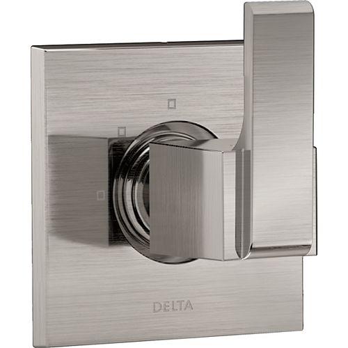 Delta Garniture d'inverseur à 3réglages Ara, acier inoxydable (soupape vendue séparément)