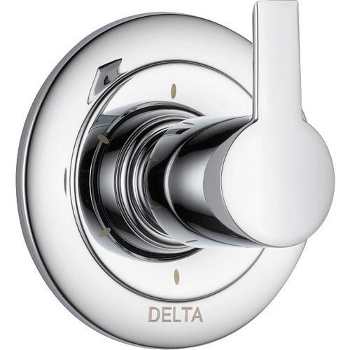 Delta Garniture d'inverseur à 6fonctions Compel, chrome (soupape vendue séparément)