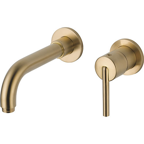 Trinsic Single Handle Wall Mount Lavatory Faucet Trim, Champagne Bronze