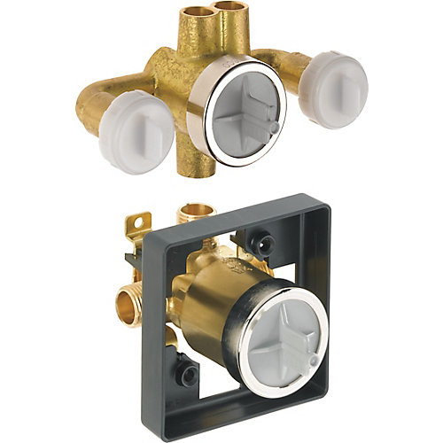 Jetted Shower Rough-In Valve with extra Outlet (6-Setting)