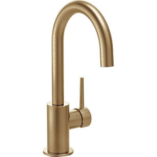Single Handle Bar/Prep Faucet in Champagne Bronze
