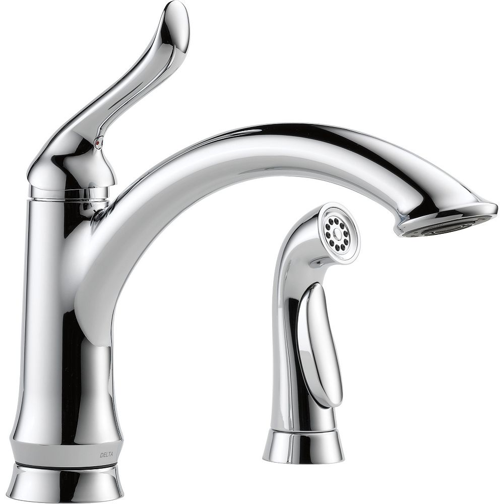 Delta Linden Single Handle Kitchen Faucet with Spray, Chrome