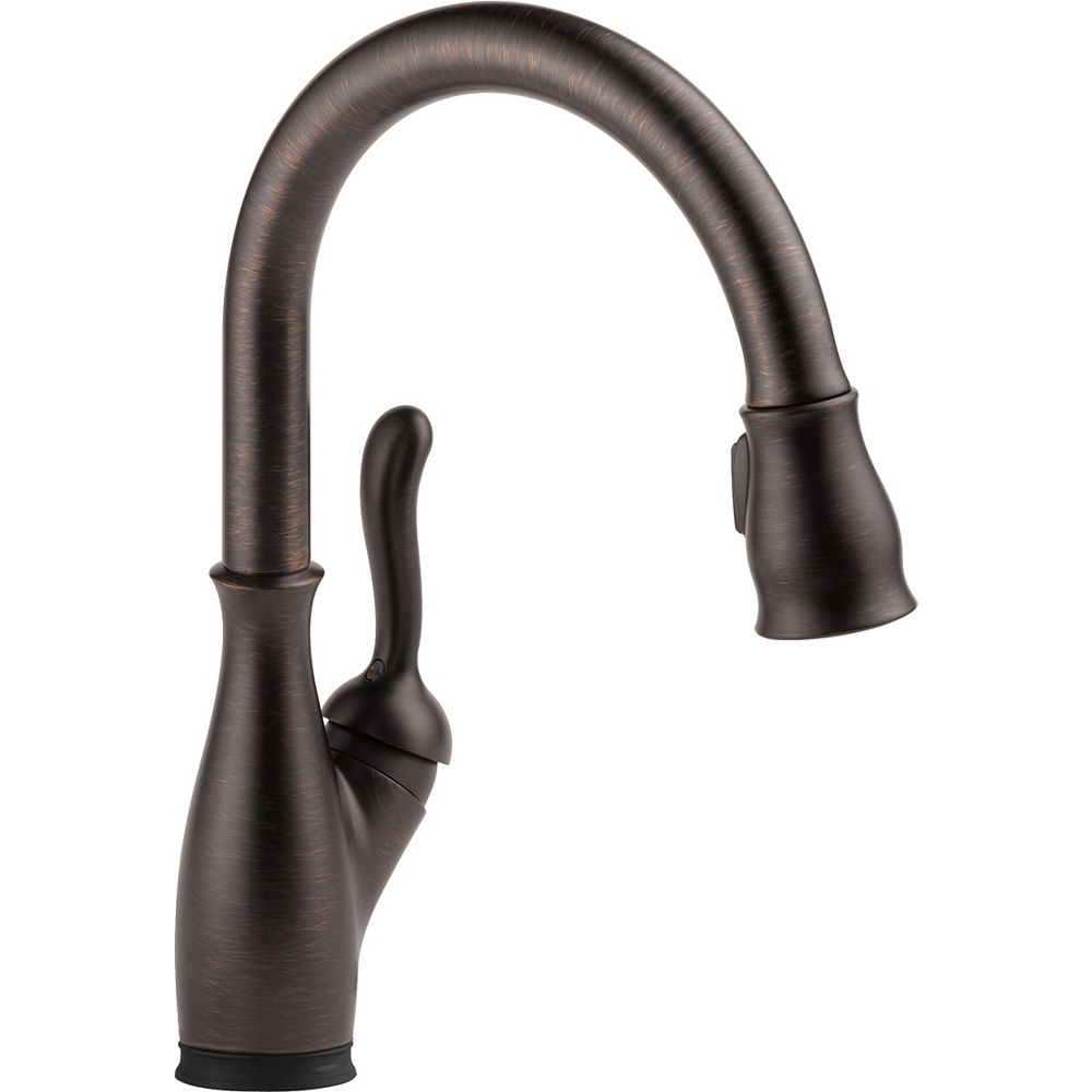 Delta Leland Single Handle Pull-Down Kitchen Faucet with Touch2O, Venetian Bronze