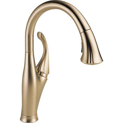 Delta Addison Single Handle Water Efficient Pull-Down Kitchen Faucet, Champagne Bronze