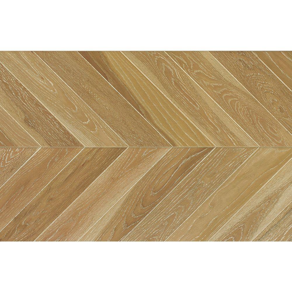 Power Dekor Weathered Oak Chevron 5/8 inch Tx11 inch Wx 60 inch L Engineered Hardwood Flooring 27.61 sq.ft./case