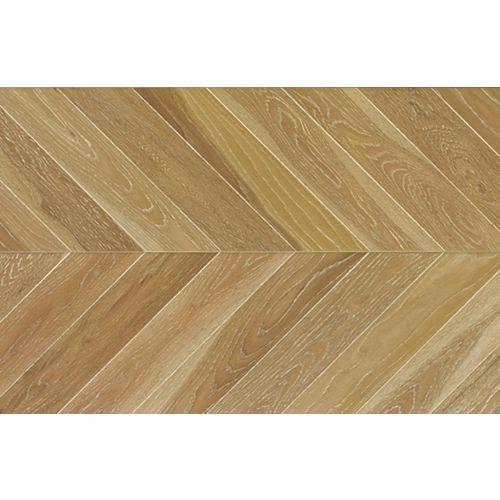 Weathered Oak Chevron 5/8 inch Tx11 inch Wx 60 inch L Engineered Hardwood Flooring 27.61 sq.ft./case