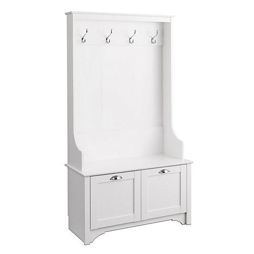 Arbre Wide Hall avec portes Shaker en blanc