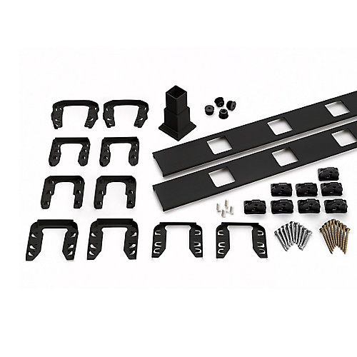 6 ft. - Infill Rail Kit for Square Balusters - Stair - Charcoal Black