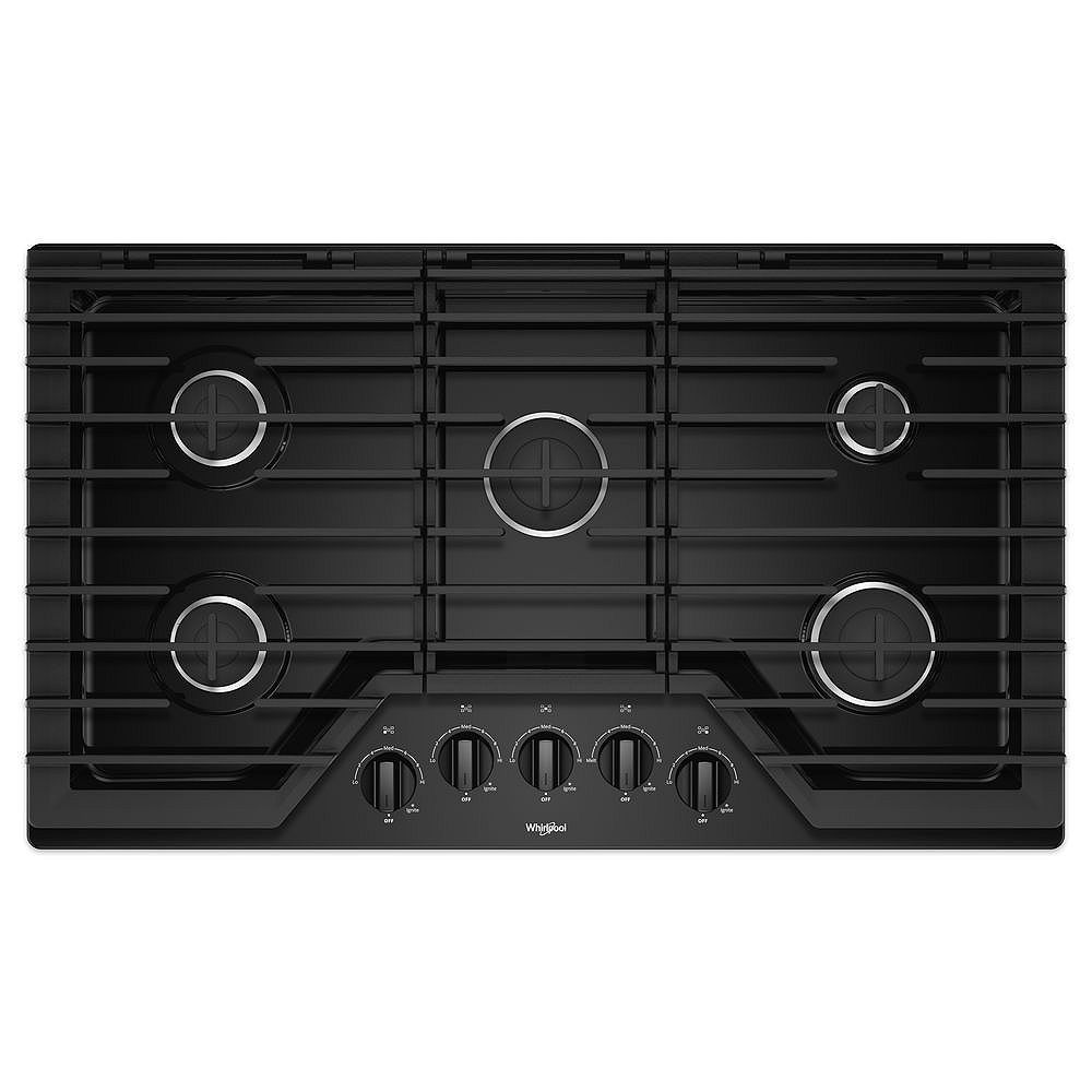 Whirlpool 36-inch Gas Cooktop with EZ-2-Lift Hinged Cast-Iron Grates
