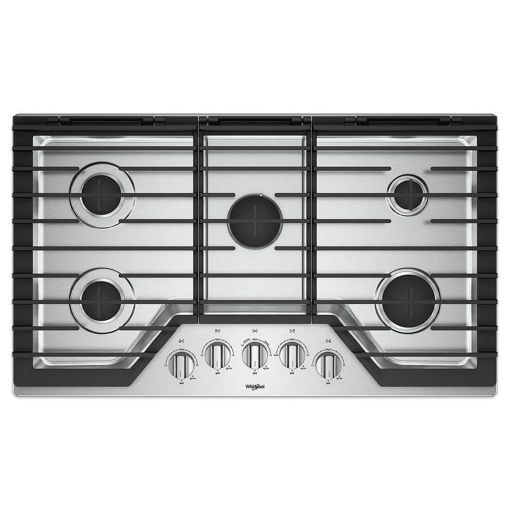 Whirlpool 36-inch Gas Cooktop with Griddle