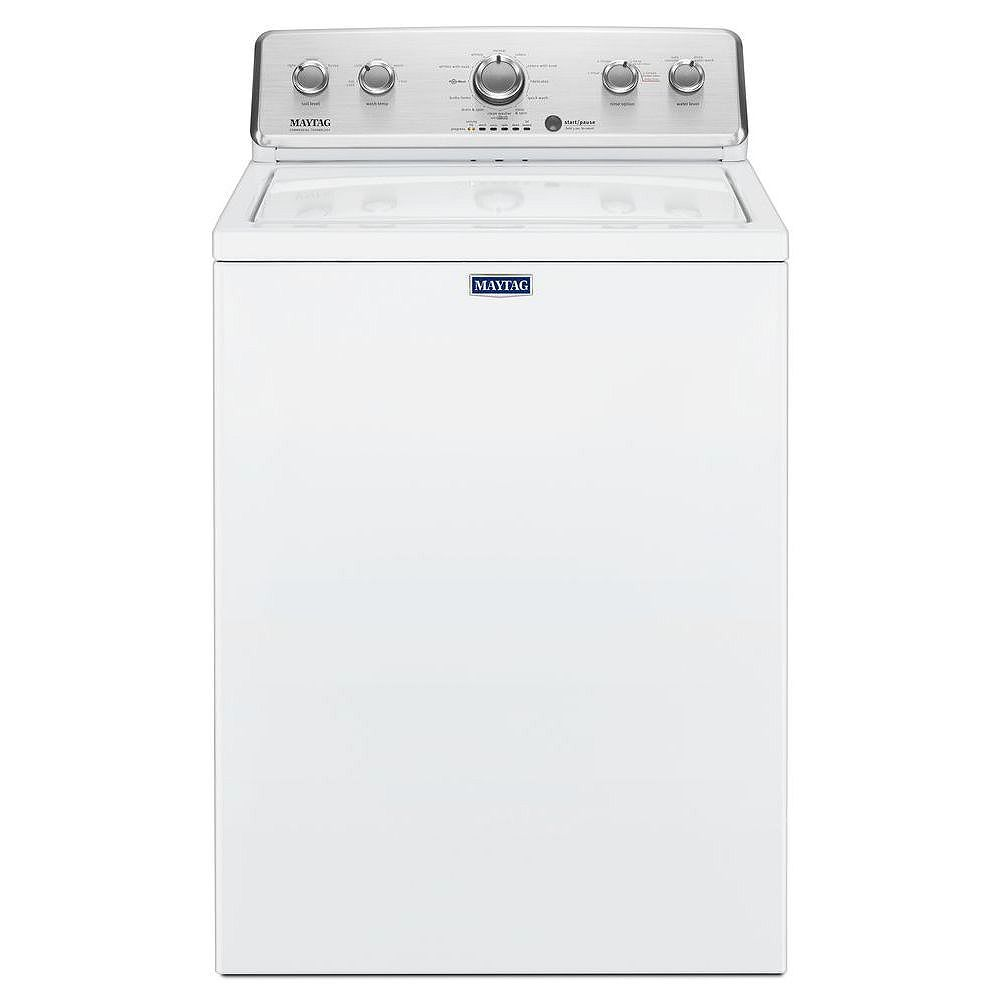 Maytag 4.4 cu. ft. Top Load Washer with Deep Fill Option in White